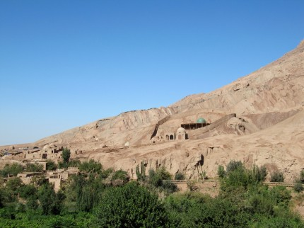 Turyoq, a traditional Uighur village.
